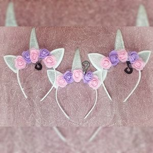 3 unicorn headband